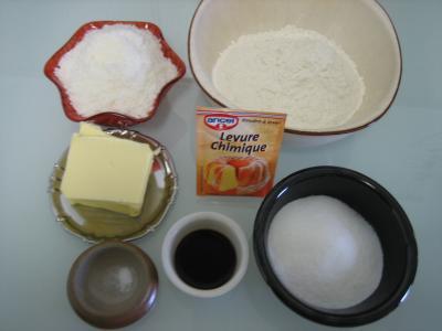 Ingrédients pour la recette : Cookies à la noix de coco