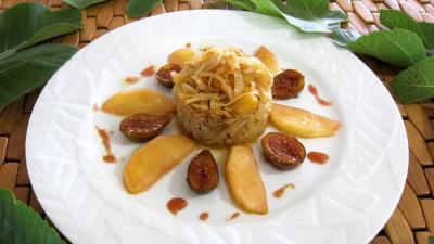 Image : Assiette de compotée de chou aux figues et aux pommes
